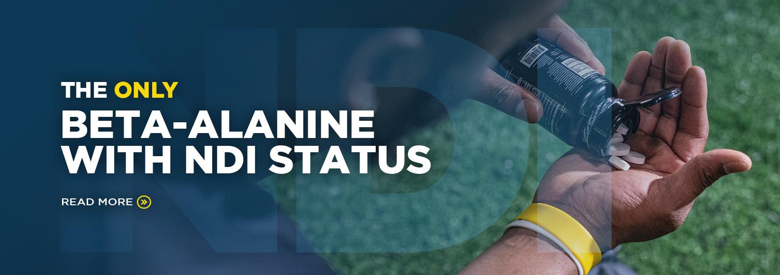 only beta alanine with ndi status